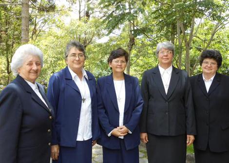 Generalrat (v.l.n.r.): Sr. Ada (Generaloberin), Sr. Zenilda, Sr. Inés, Sr. Maurete, Sr. Albertina