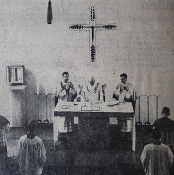 Einweihung der Hauskapelle vom Altenheim St. Josef am 21.7.1965